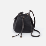 Cinder Black Leather Small Crossbody
