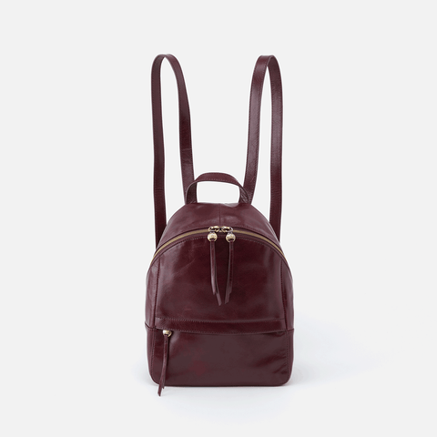 Cliff Purple Leather Backpack