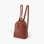 Cliff Brown Leather Backpack Purse