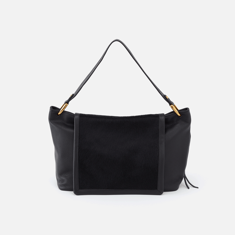 Cline Black Leather Hobo