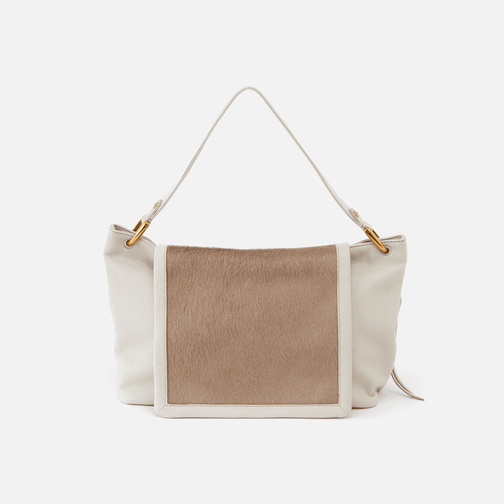 Cline White Leather Hobo