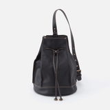Coast Black Leather Sling Pack