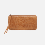 Coda Embossed Cognac Brown Leather Large Wallet