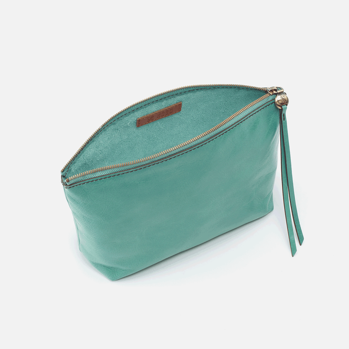 Collect Seafoam Leather Pouch
