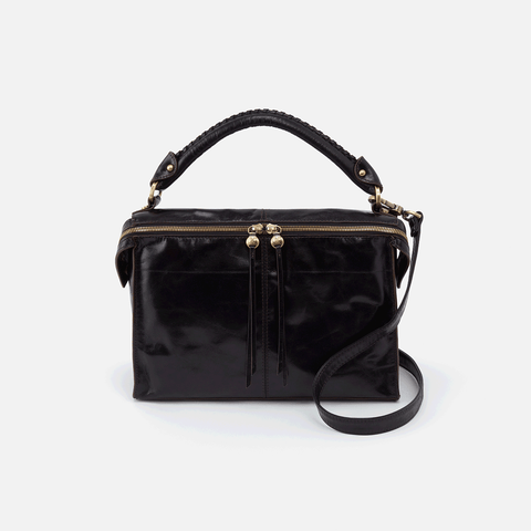 Copula Black Leather Crossbody & Shoulder Bag