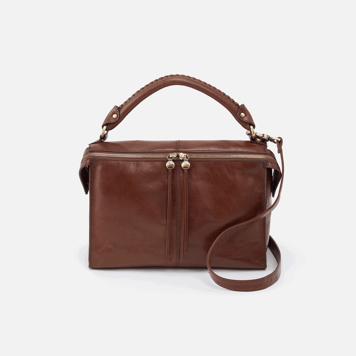 Copula Brown Leather Crossbody & Shoulder Bag