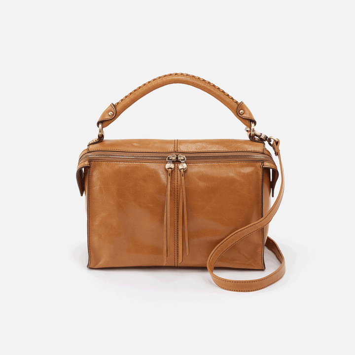 Copula Cognac Brown Leather Crossbody & Shoulder Bag