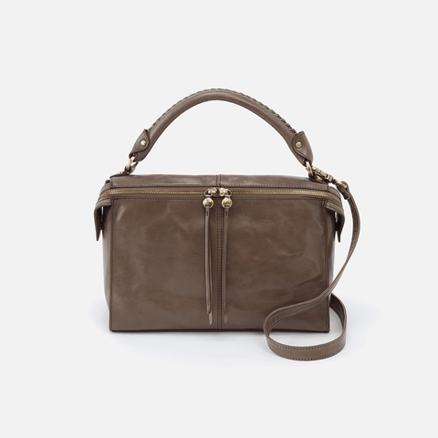 Copula Grey Leather Crossbody & Shoulder Bag