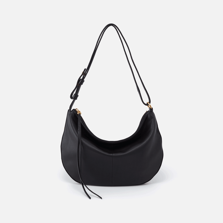 Cosmo Black Leather Crossbody