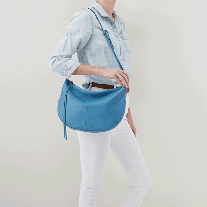 Cosmo Dusty Blue Leather Crossbody