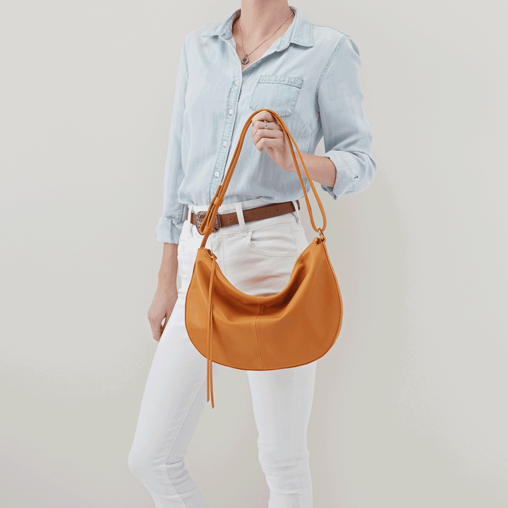 Cosmo Butterscotch Leather Crossbody
