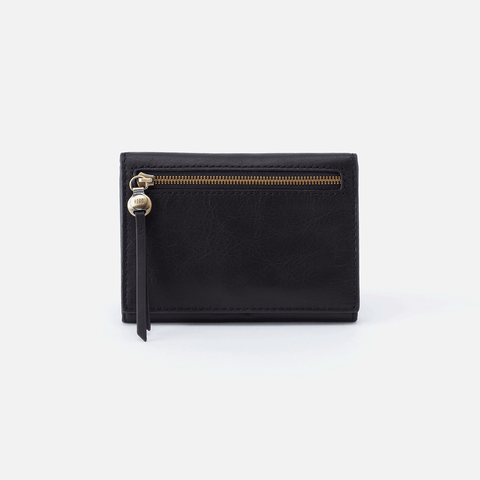 Cove Black Leather Small Wallet