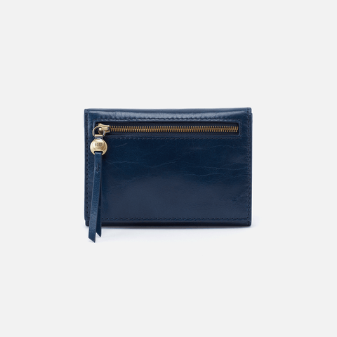 Cove Blue Leather Small Wallet
