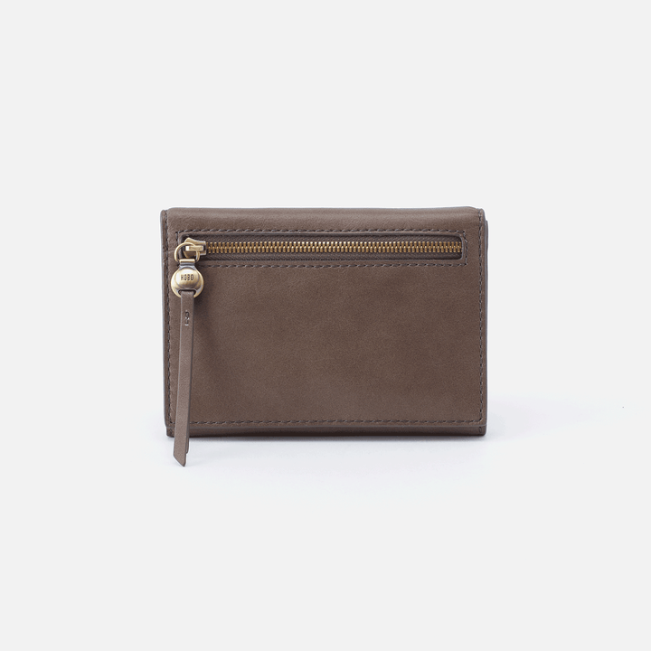 Cove Grey Leather Small Wallet