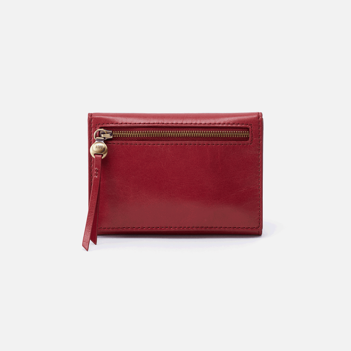 Cove Red Leather Small Wallet
