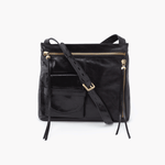 Crossfire Black Leather Large Crossbody