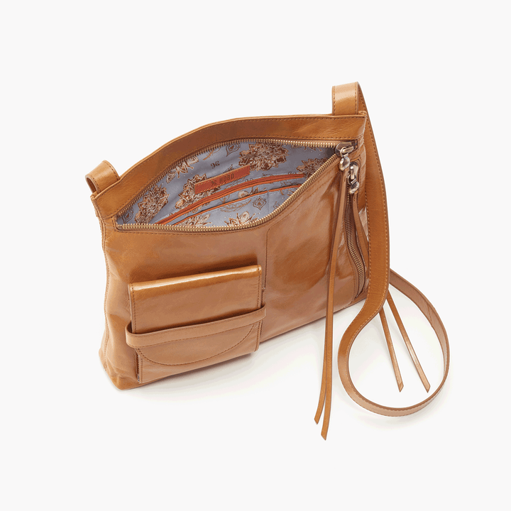 Crossfire Cognac Brown Leather Large Crossbody