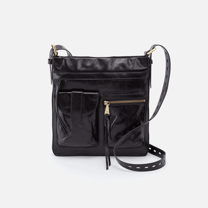 Crusade Black Leather Crossbody & Shoulder Bag