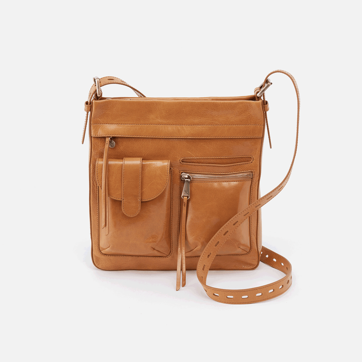 Crusade Cognac Brown Leather Crossbody & Shoulder Bag