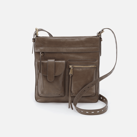 Crusade Grey Leather Crossbody & Shoulder Bag