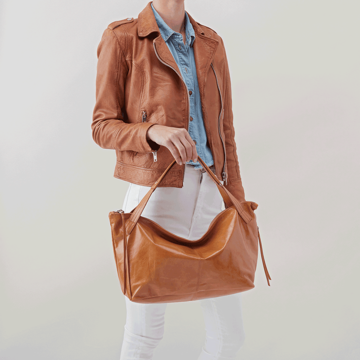 Current Cognac Brown Leather Satchel