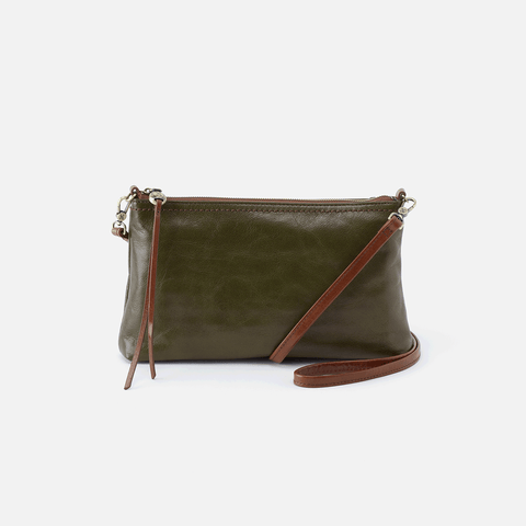 Darcy Green Leather Convertible Crossbody Clutch