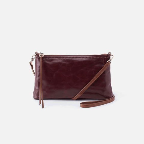 Darcy Purple Leather Convertible Crossbody Clutch