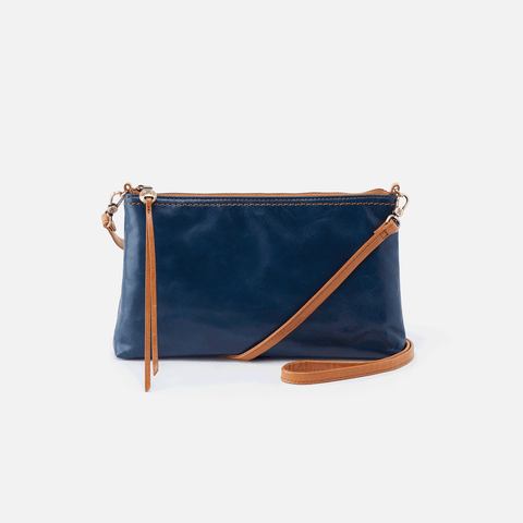 Darcy Blue Leather Small Crossbody