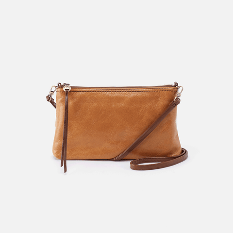 Darcy Cognac Brown Leather Small Crossbody
