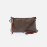 Darcy Grey Leather Small Crossbody