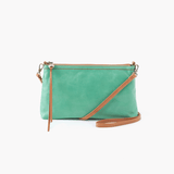 Darcy Light Green Leather Small Crossbody