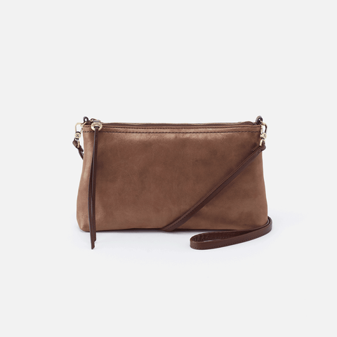 Darcy Metallic Brown Leather Small Crossbody