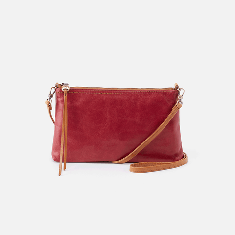 Darcy Red Leather Small Crossbody