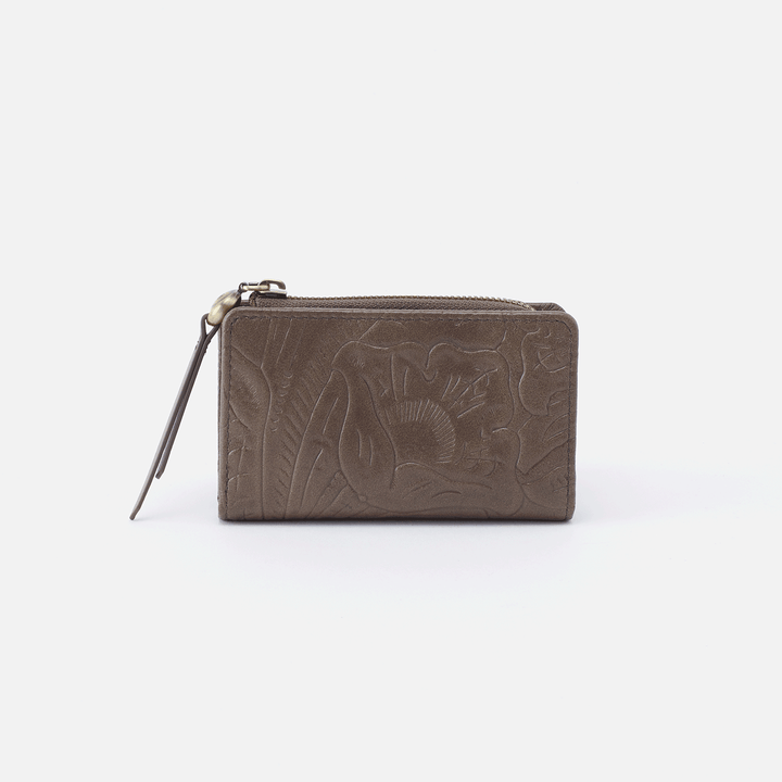 Dart Embossed Grey Leather Credit Card Wallet