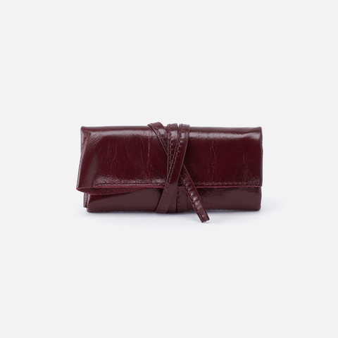 Dasher Purple Leather Jewelry Roll