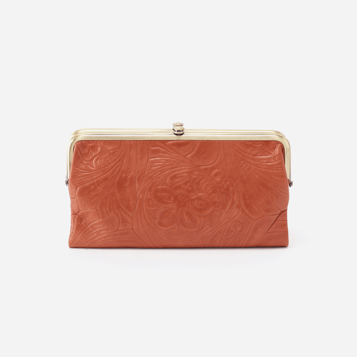 Embossed Clay Lauren Clutch Wallet  Hobo