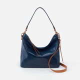 Delilah Blue Leather Crossbody & Shoulder Bag