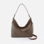 Delilah Grey Leather Crossbody & Shoulder Bag