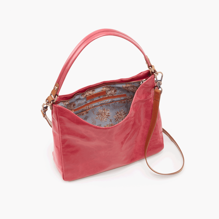 Delilah Pink Leather Crossbody Shoulder Bag