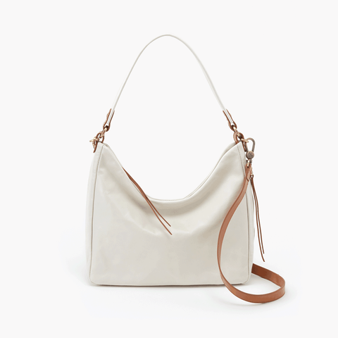 Delilah White Leather Crossbody Shoulder Bag