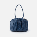 Divine Blue Leather Shoulder Bag