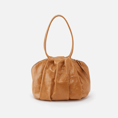 Divine Cognac Brown Leather Shoulder Bag