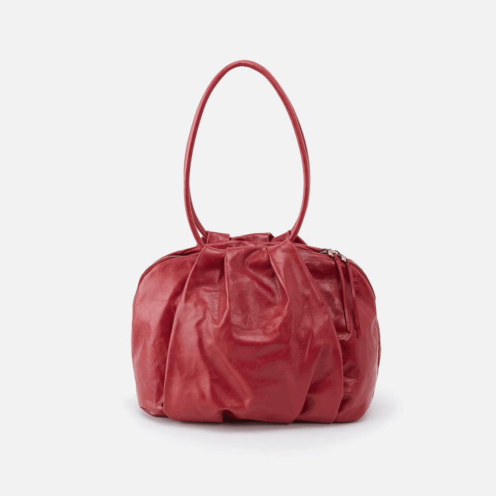 Divine Red Leather Shoulder Bag