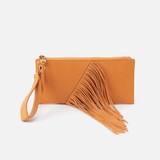 Dizzy Butterscotch Leather Wristlet