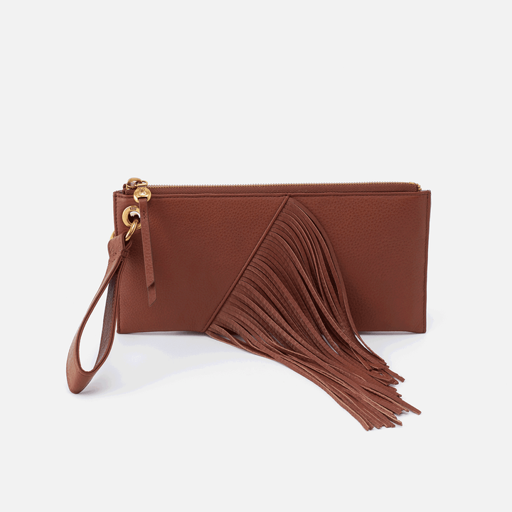 Dizzy Toffee Leather Wristlet