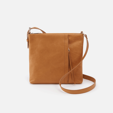 Drifter Cognac Brown Leather Small Crossbody