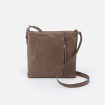 Drifter Grey Leather Small Crossbody
