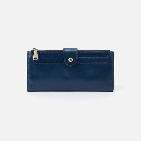 Dunn Blue Leather Large Wallet
