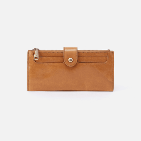 Dunn Cognac Brown Leather Large Wallet