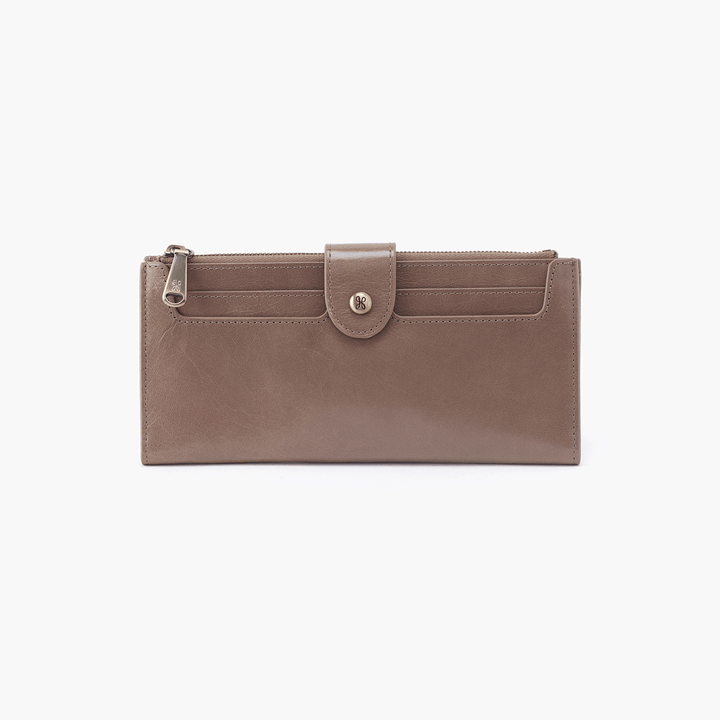 Dunn Grey Taupe Leather Large Wallet